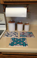 "DECORATIVE TILE 8"" CERAMIC SQUARE Each - $10"