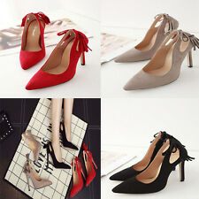 Fashion Simple Sexy Tassels High Heeled Pointed Toes Ladies Shose