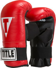 TITLE BOXING Elastic Pro Bag Leather Gloves Regular (up to 156 lb.) NEW