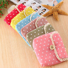 Handy Dotted Crochet Diaper Storage Organizer Sanitary Napkin Package Bag