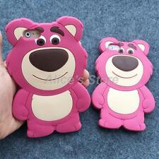 For Apple iPhone 6 6plus 5/5S 3D Cartoon Cute Strawberry Bear Phone Case Cover