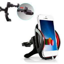 Red -MD260 360° Car Air Vent Mount Cradle Holder Stand For Cell Phone GPS Apple