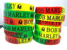 Wholesale Job lot 6PC BOB MARLEY Print Rubber Boys Girls Kids Bracelet Band UK