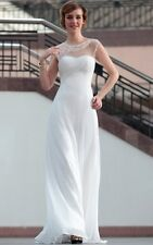 White Women Dress Prom Ball Cocktail Party Dress Formal Evening Gown Long Dress
