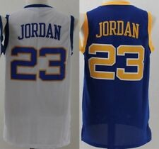 MICHAEL JORDAN #23 LANEY HIGH SCHOOL JERSEY Stitches Sewn White Blue NEW S-2XL
