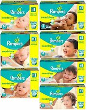 Pampers Swaddlers Diapers Huge Box Choose Size 1.2.3.4.5.6 Newborn free shipping