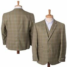 Mens Checked Heritage Tailored Single Breasted Blazer Jacket Coat Maddox Street