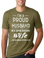 Proud Husband of awesome Wife Gift for Husband Tee Shirt Mens T-shirt