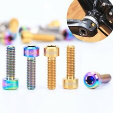 4pcs Bicycle crankset Disc Brake Adapter Mount Bolt Titanium screw M6x20 socket