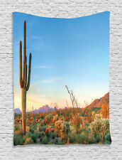 Sunset in the Desert Cactus Southwest Texas National Park Wall Hanging Tapestry