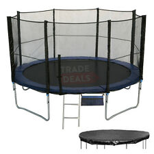 6 8 10 12 14 16 FT Trampoline with Safety Net/Enclosure, Cover, Ladder, Shoe Bag