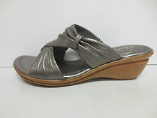 Clarks 'Soma Spark' Ladies Silver Pewter Metallic Leather Summer Casual Sandals