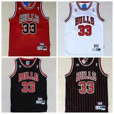 Scottie Pippen Chicago Bulls Jersey #33 Men Basketball Throwback Stitched S-XXL