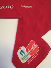 """TORCH RELAY "" Coca Cola Vancouver 2010 Olympics SCARF"