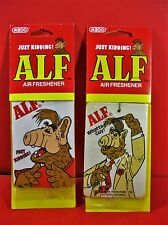 1987 ALF AIR FRESHENER Lot of 2 UNUSED Vintage TV Show Alien Medo Just Kidding