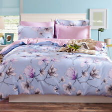 Flower Quilt Doona Cover Set 100% Cotton Single Queen King Bed Size New Duvet