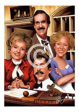 FAWLTY TOWERS artwork print caricature A3/A4 sizes signed art