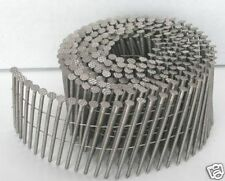 COIL NAILS 2.3 x 45mm BRIGHT RING FLAT TYPE COIL NAILS. FITS BEA BOSTITCH MAX