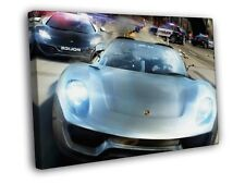 NFS Porche Police Racing FRAMED CANVAS Print
