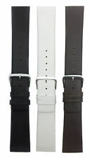 Genuine Skagen Leather Watch Strap Band, 14mm-26mm, Comes in White, Black, Brown