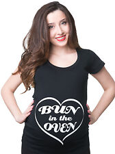 Bun in the Oven Funny Maternity Pregnancy T-shirt Tee Shirt Gift Pregnancy Tee