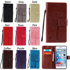 New Card Holder Leather Flip Wallet Case Cover Stand Floral For Apple iPhone