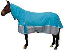 CARIBU 600 Denier Turnout Rainsheet Combo Horse Rug, All Sizes, Turquoise