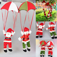 Santa Claus Snowman In Parachute Christmas Tree Hanging Xmas Ornament Decoration