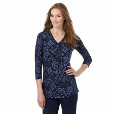 The Collection Womens Navy Diamond Print Tunic From Debenhams