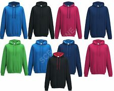 NEW UNISEX MENS LADIES HOODED SWEATSHIRT PLAIN HOODIE SWEAT TOP HOODY S-XXL