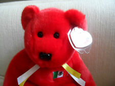 "TY Beanie Buddy ~OSITO 14"" Mexican  Flag Teddy Bear baby Collectors Quality NWT"