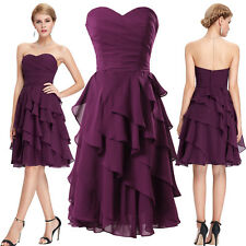 Womens Mini Formal Prom Wedding Short Bridesmaid Dresses Evening Party Ball Gown