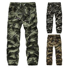 Camouflage Men's Stylish Casual Military Army Cotton Long Pants Baggy Trousers