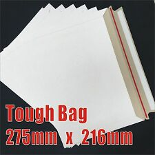 Tough Bag 216x275mm Heavy Duty Envelope Card Mailer A5 TB1 Adhesive 216mm