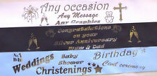 45mm Personalised Printed Ribbon with Silver Foil for Cakes,Gifts,Decoration Etc