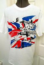 Sex Pistols Anarchy in the UK PUnk T-SHIRT Union Jack Flag Inside Out Tee S-M