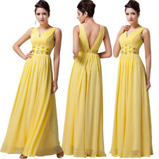 Deep V-Neck Sexy Long Cocktail Party Evening Prom Formal Gown Bridesmaid Dress