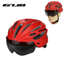5 Colors Integrally-molded Cycling Goggle Helmet With Magnet Adsorption Goggle
