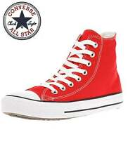 Converse Mens Red Chuck Taylor All Star Classic Hi Tops Trainers Canvas Shoes