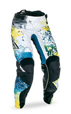FLY RACING MX MTB Girls 2017 Kinetic Race Pants (Dark Teal/Yellow) Choose Size