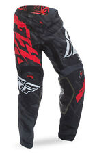 FLY RACING MX MTB BMX Kids 2017 Kinetic RELAPSE Pants (Black/Red) Choose Size