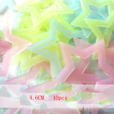 40pcs Home Decor Glow In The Dark Colorful Hollow Star Wall Stickers Kids Room