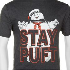 Men's Ghostbusters Stay Puft Marshmallow Man Black Ghost Tee Sizes S and up XXL