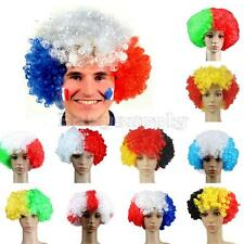 Afro Curly Wig Fancy Dress Halloween World Cup Football Games Supplies Costume