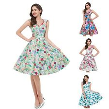 Gorgeous Womens Floral Printed Summer Swing Vintage Cocktail Party Prom Dress