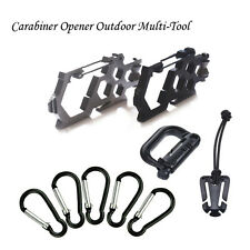 Carabiner Opener Camp Snap Clip Hook Keychain Climbing Outdoor Multi-Tool Sturdy