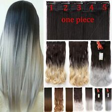 100% Natural ,17-30 Inch,3/4Full Head Clip In Hair Extensions,As Human Remy H811