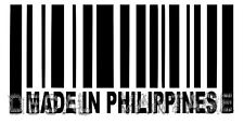 Made In Philippines Barcode Vinyl Sticker Decal Filippino - Choose Size & Color