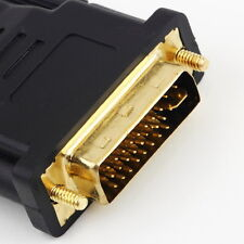 DVI Male - HDMI Female adapter Gold Plated NEW M F Converter For HDTV LCD