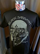 NEW US / U.S. TOUR 1978 NEVER SAY DIE BLACK SABBATH GOLD PILOT BLACK T SHIRT